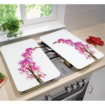 2 couvre plaques orchidee wenko wenko protection plaques - Credence pour plaque de cuisson ...