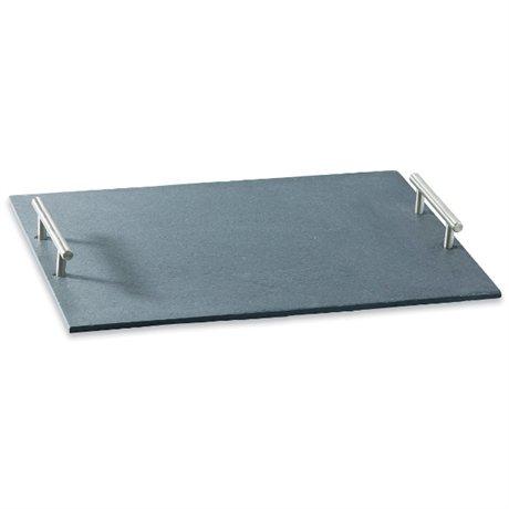 Plateau de service en ardoise vaisselle et service for Plateau pour table de jardin