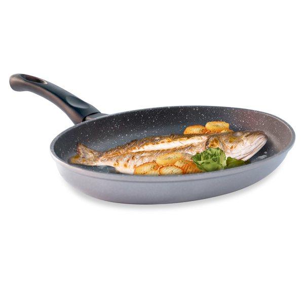 Po le poisson avec rev tement dur comme la pierre 34 cm mathon po le poisson cuisson - Poisson a la poele ...
