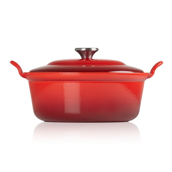 cocotte plume 28 cm rouge le creuset faitouts cocottes et marmites cuisson. Black Bedroom Furniture Sets. Home Design Ideas