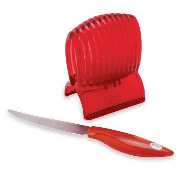 pince tranche tomates avec couteau coupe fruits herbes et l gumes couteaux et d coupe. Black Bedroom Furniture Sets. Home Design Ideas
