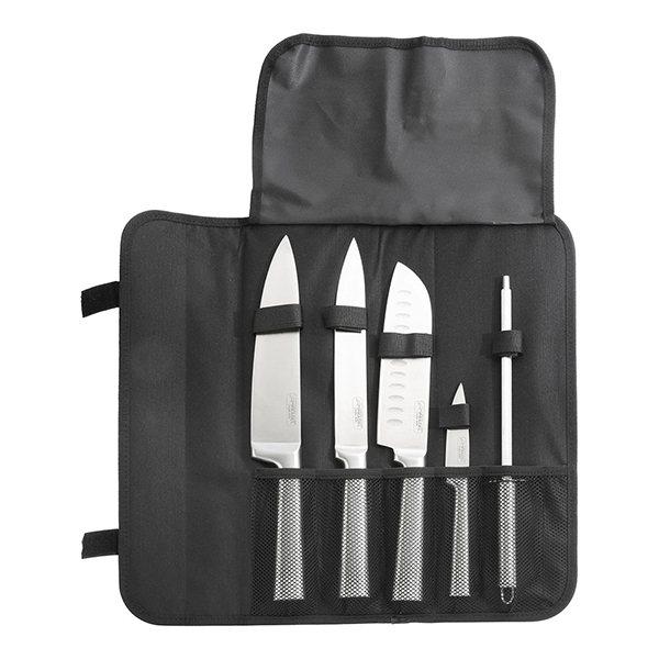 sacoche 4 couteaux de cuisine et fusil aiguiser pradel jean dubost jean dubost couteaux chef. Black Bedroom Furniture Sets. Home Design Ideas