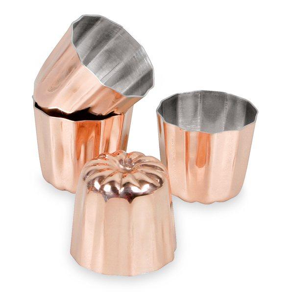 4 moules cannel s canel s bordelais 3 5 cm cuivre. Black Bedroom Furniture Sets. Home Design Ideas