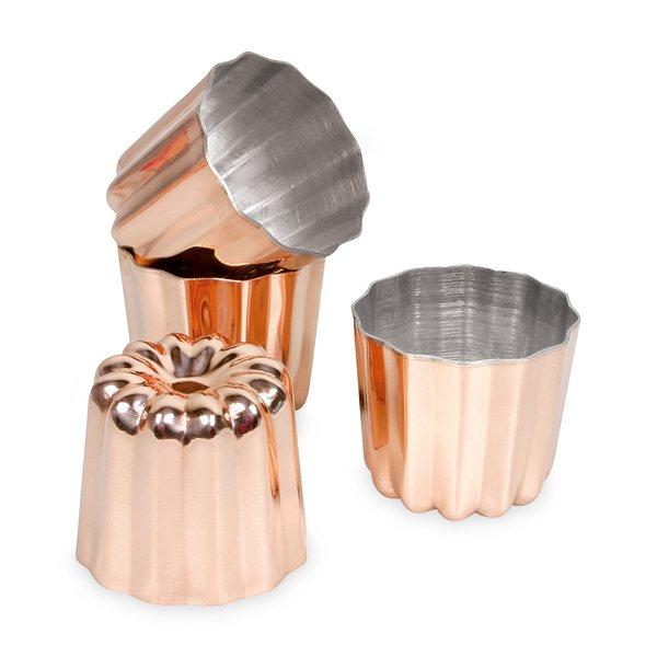 4 moules cannel s bordelais 4 5 cm cuivre moules et. Black Bedroom Furniture Sets. Home Design Ideas