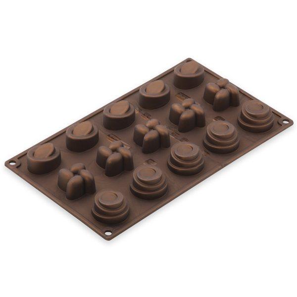 moule silicone 15 mini formes moules et plaques en silicone mat riel de p tisserie. Black Bedroom Furniture Sets. Home Design Ideas