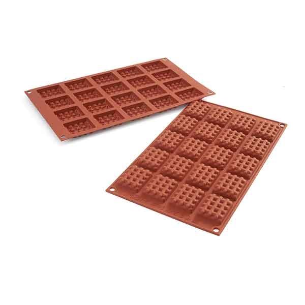 moule mini gaufres rectangulaires silicone silikomart moules et plaques en silicone mat riel. Black Bedroom Furniture Sets. Home Design Ideas