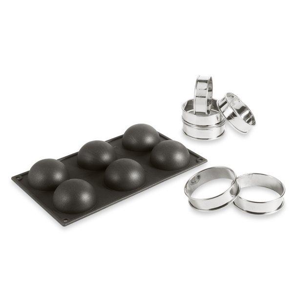 moule silicone 6 demi sph res 6 cercles tarte moules et plaques en silicone mat riel de. Black Bedroom Furniture Sets. Home Design Ideas