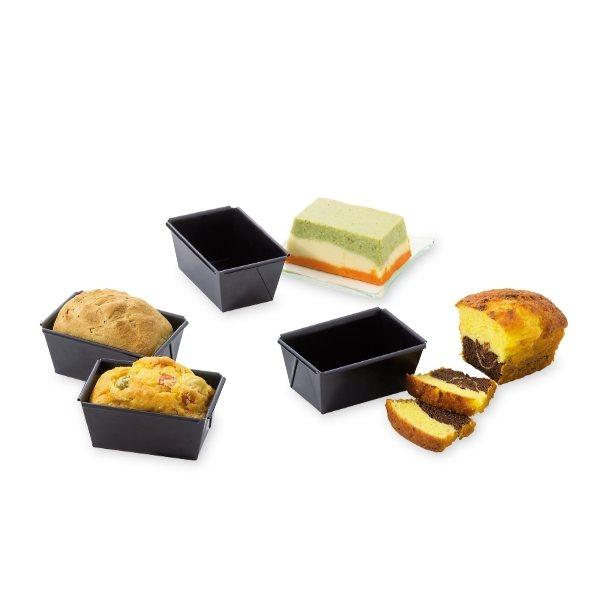 4 mini moules cakes patisse moules et plaques en m tal. Black Bedroom Furniture Sets. Home Design Ideas