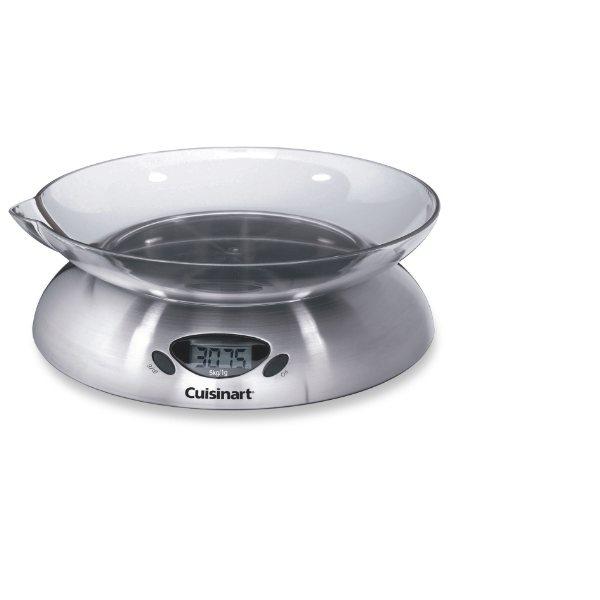 Balance de cuisine compacte inox cuisinart balances et for Ustensile inox cuisine
