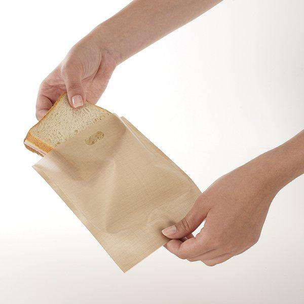 Set de 2 sachets de cuisson pour toasts et croques - Sachet cuisson croque monsieur grille pain ...