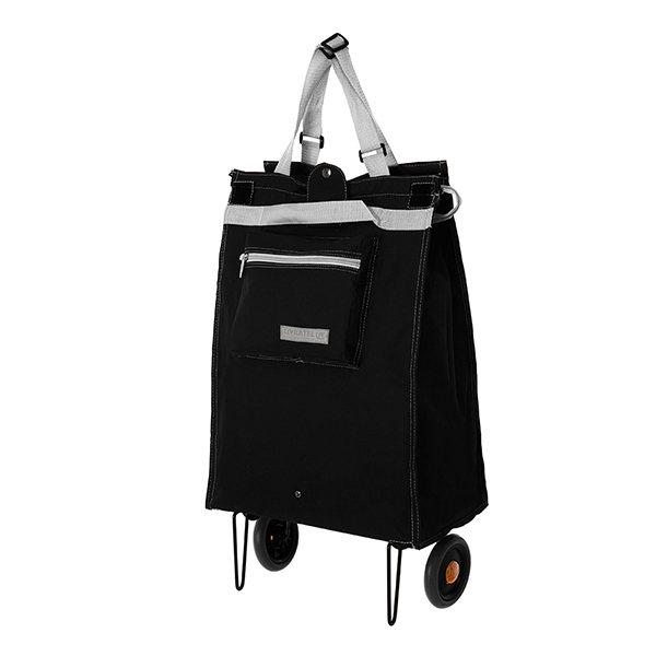 sac de courses 44 l roulettes noir chariots et paniers de courses art de la table et. Black Bedroom Furniture Sets. Home Design Ideas