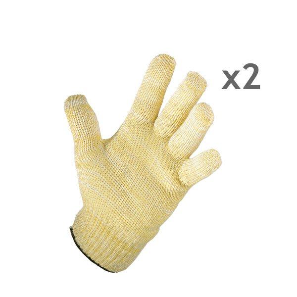 Lot de 2 gants anti chaleur mathon tabliers torchons gants organisation de la cuisine - Gant cuisine anti chaleur ...