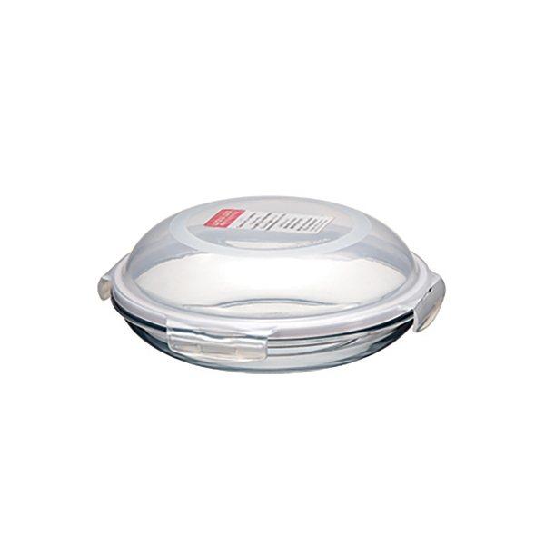 Plat assiette ronde en verre 24 cm lock and lock bo tes de conservation ustensiles de - Conservation plat cuisine ...