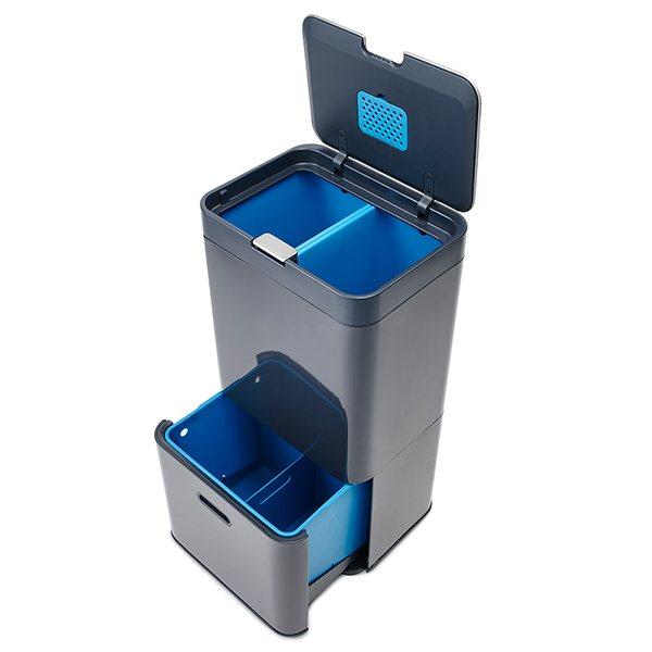 poubelle totem anthracite 58l joseph joseph poubelles de cuisine et de salle de bain. Black Bedroom Furniture Sets. Home Design Ideas