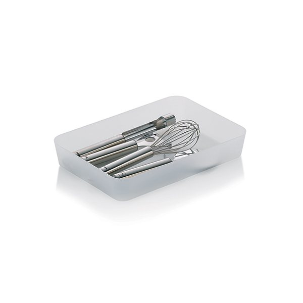 Organisateur de tiroir rectangulaire blanc 26 5 cm gaveta for Organisateur tiroir