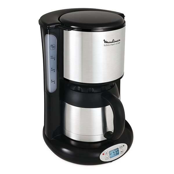 Cafeti re subito isotherme programmable 0 9 l moulinex - Cafetiere filtre programmable isotherme ...