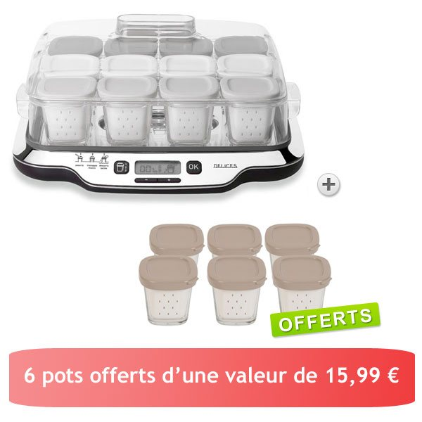 Yaourti re multid lices 3 en 1 table de cuisine - Yaourtiere seb multi delice 6 pots ...