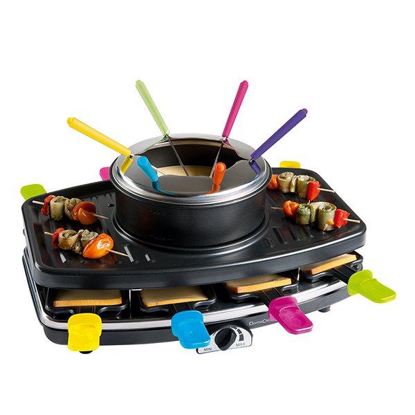 Appareil 3 en 1 raclette grill fondue domoclip for Appareil cuisine conviviale