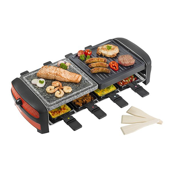 grill raclette 8 personnes 1200 w bestron raclettes. Black Bedroom Furniture Sets. Home Design Ideas