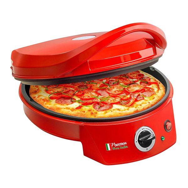 Four pizza et grill 27 cm bestron bestron fours et for Four a pizza maison