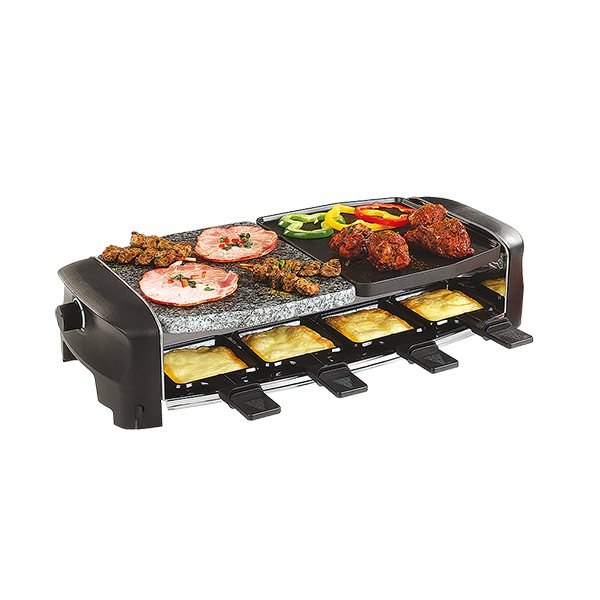 Appareil raclette multifonctions 8 personnes domoclip for Appareil cuisine conviviale