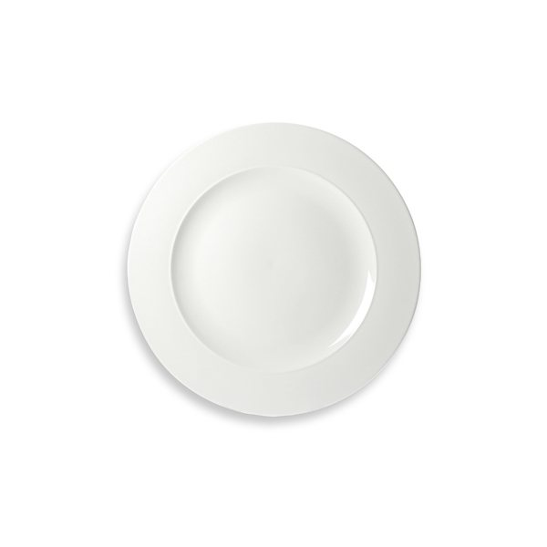 Assiettes plates blanches