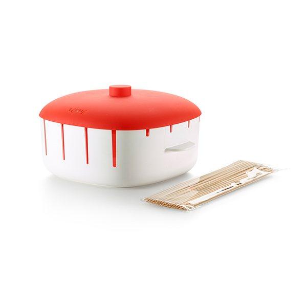 8 brochettes la vapeur au micro ondes lekue cuisson la vapeur mat riel de cuisson. Black Bedroom Furniture Sets. Home Design Ideas