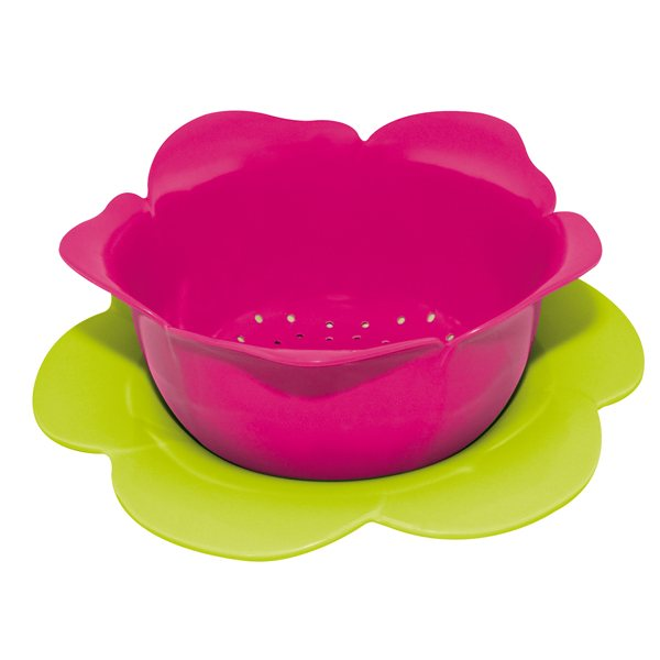 Set passoire et soucoupe framboise vert zak designs for Set ustensiles de cuisine