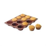 Flexi' plaque silicone 12 muffins Mathon