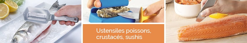 Ustensiles poissons, crustacés, sushis