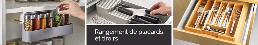 rangement de placards et tiroirs - organisation de la cuisine
