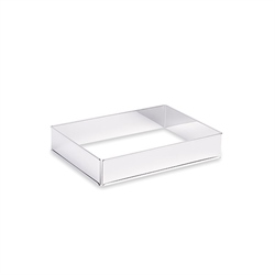 Rectangle à gâteau extensible en inox