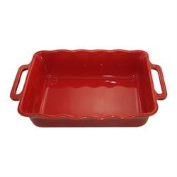 Plat rectangle céramique cerise 41 cm Appolia