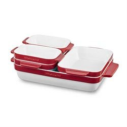 Set céramique de cuisson rouge kitchenaid