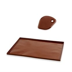 Lot Flexi'plaque en silicone + Corne à pâtisser Mathon