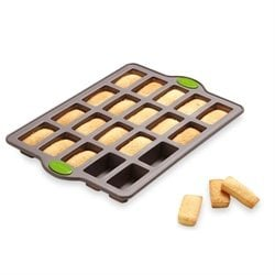 Rigiflex Plaque 20 mini financiers en silicone structure acier Mathon
