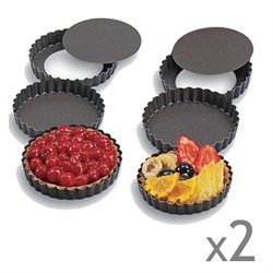 lot de 12 mini-tartes amovibles Gobel