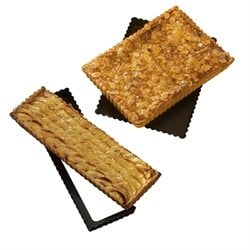 lot de 2 moules à tarte rectangle amovible 30 et 36 cm Mathon