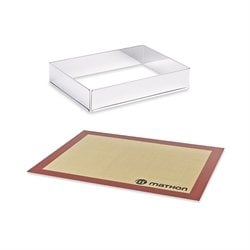 Lot Rectangle à gâteau extensible et Tapis de cuisson pro en silicone Mathon