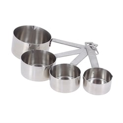 4 pots mesureurs en inox De Buyer