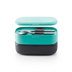 Lunch Box basics To Go turquoise 1 L Lekue