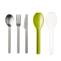 Set de 3 couverts Ellipse citron Mepal
