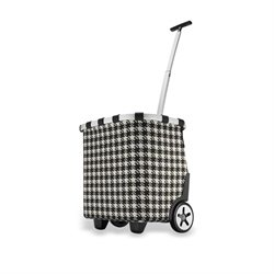 Shopping Trolley damier noir et blanc