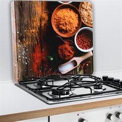 set 2 couvre plaques protection motifs epices protection plaques de cuisson cr dence. Black Bedroom Furniture Sets. Home Design Ideas