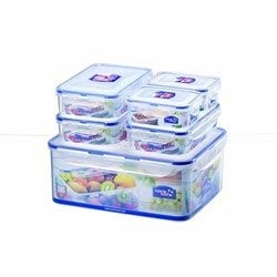 Set de 6 boîtes rectangulaires : 2 x 350 ml + 3 X 800 ml + 5,5 L Lock and Lock