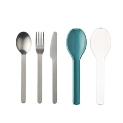 Set de 3 couverts Ellipse bleu Mepal