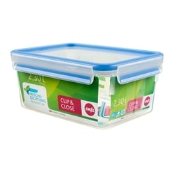 Boîte rectangle Clip & Close bleu 2,3 L Emsa
