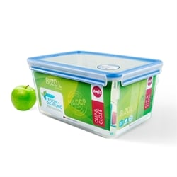 Boîte rectangle Clip & Close bleu 8,2 L Emsa