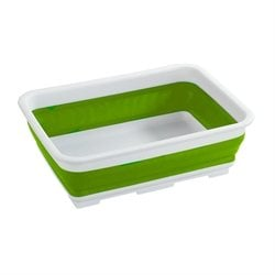Bassine à vaisselle rétractable rectangle vert