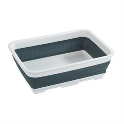 Bassine à vaisselle rétractable rectangle gris